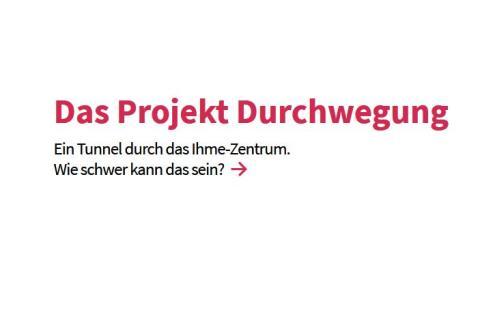 """Neue Website zur Durchwegung: """"Ihme-Zentrum pfadfinder"""""""