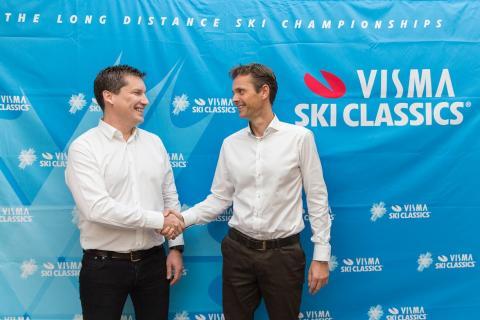 David Nilsson, administrerende direktør Ski Classics og Eivind Gundersen, divisjonsdirektør i Visma