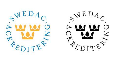 En kontrollerad vara eller tjänst bär alltid Swedacs lilla ackrediteringsmärke med de tre kronorna, som visar att kontrollen utförts på ett riktigt sätt.