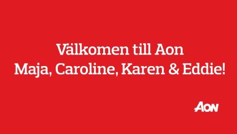 Välkomna Maja, Caroline, Karen och Eddie!
