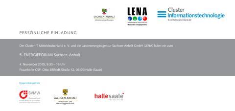 Einladung 5. ENERGIEFORUM Sachsen-Anhalt