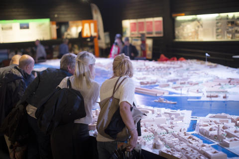 Älvrummet är en plats för information och dialog om den pågående stadsutveclingen.