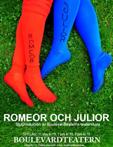 Romeor och Julior - slutproduktion av studenter på Boulevardteaterns teaterskola