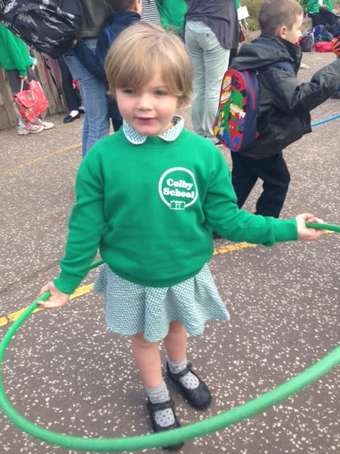 Lily Amber makes her family proud as she starts school