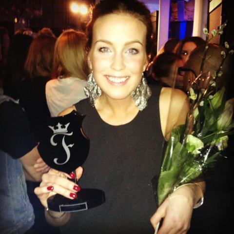 PT- Fia knep bucklan för bästa träningsblogg på Finest Awards 2013