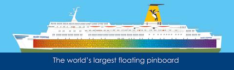 "World record attempt of the Bowspirit Kids - ""The world's largest floating pinboard"""