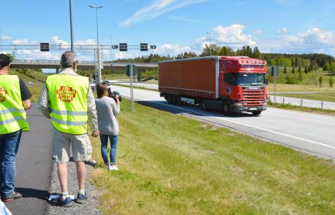 Teller utenlandske lastebiler