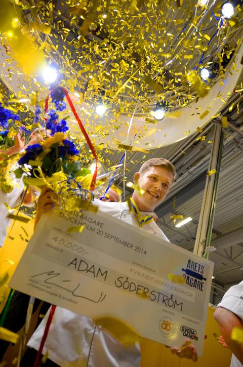 Adam Söderström från Tumba vann nya tävlingen Årets Bagare