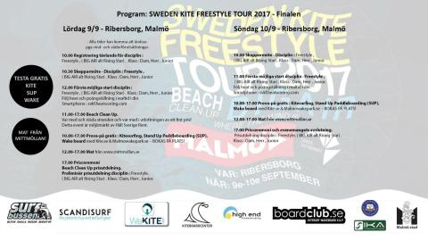 Program för Sweden Kite Freestyle Tour 2017 - Final