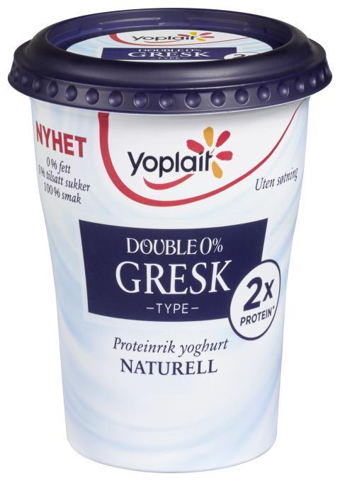 Yoplait Double 0% Gresk type - naturell