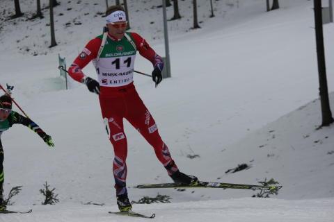 Fredrik Mack Rørvik i løypa, normalprogram menn, Junior-VM Minsk