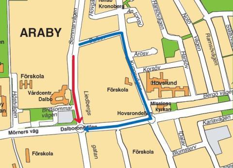 Fortsatta vägarbeten på Liedbergsgatan