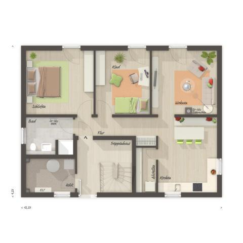 Flair 180 Duo: Grundriss Erdgeschoss