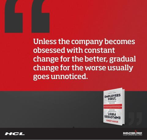 HCL Employees first, customer second