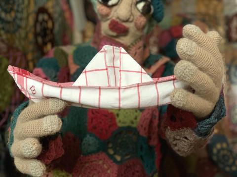 Textilverk av Elisabeth Bucht