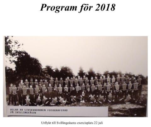 Fellingsbro hembygds- och fornminnesförening: Program för 2018