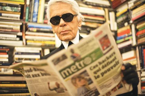 Lagerfeld blir Metros redaktör den 7 februari