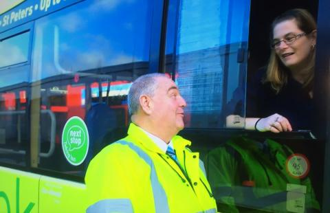 Bus staff are Strictly TV stars