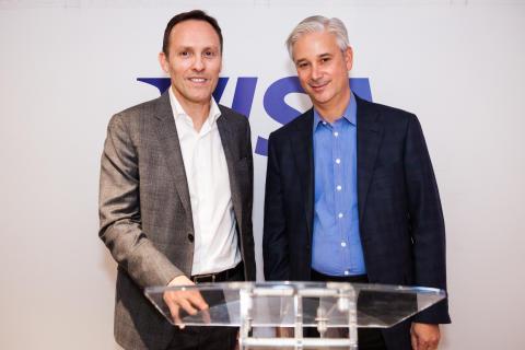 Nicola Huss and Charles Scharf