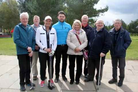 ​Stroke survivors tee off in Crewe during Make May Purple