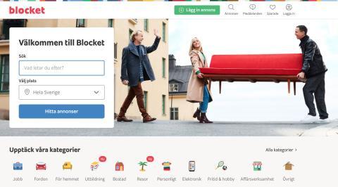 Blockets nya hemsida