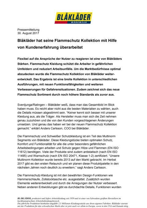 PDF PM Blaklader Flammschutz Relaunch