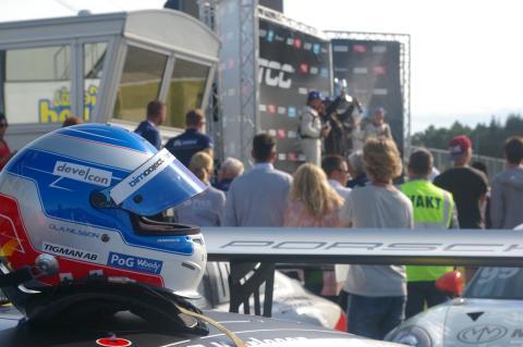 Fortsatt jakt på pallplatser för Ola Nilsson i Swedish GT