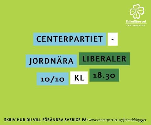 Framtisdsbygget bjuder in till seminariet Centerpartiet - Jordnära liberaler 10/10