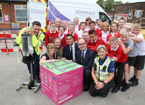 Melton Mowbray youngsters get up to speed with superfast broadband