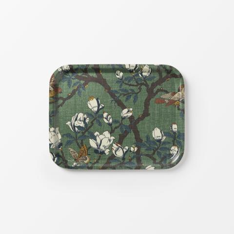 Svenskt_Tenn_Tray_Japanese_Magnolia_Textile_Green_Rectangular_36x28cm_1