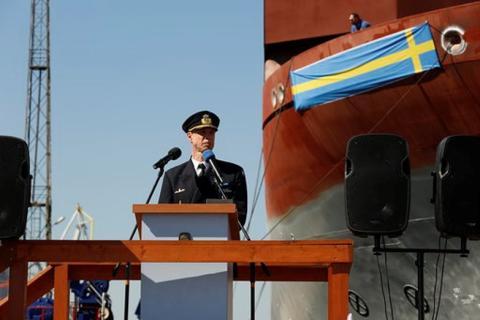 Försvarsmaktens nya signalspaningsfartyg har tilldelats namn