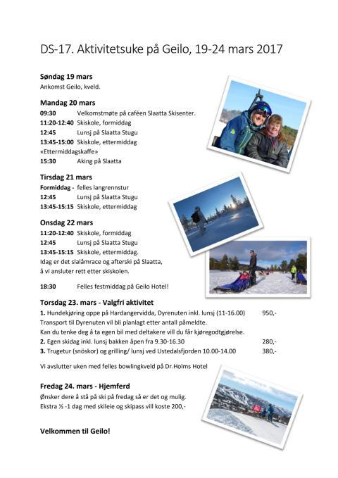 Program för veckan