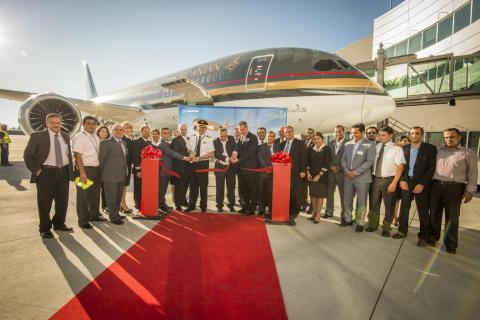 Boeing 787 dreamliner ceremoni