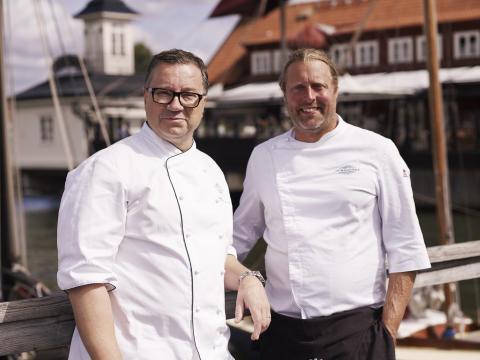 Ulf Wagner och Gustav Trädgårdh, kockarna som står bakom restaurang Sjömagasinet. Fotograf: Lee Kearnei