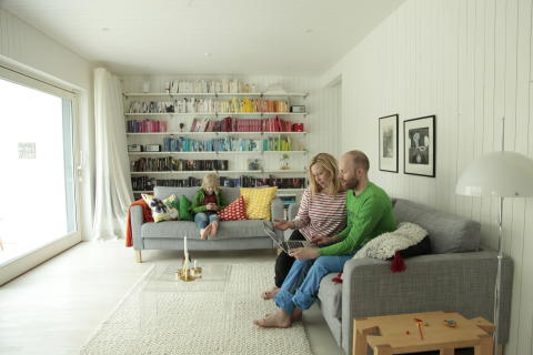 Familjen Jogensjö, vardagsrum