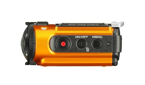 Ricoh WG-M2, oransje fra siden