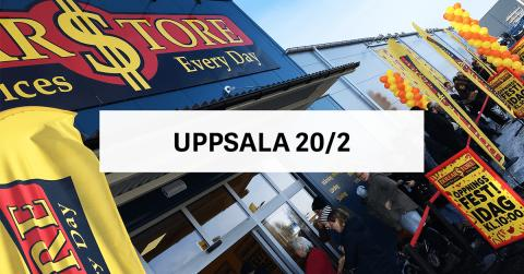 Öppningsfest DollarStore Uppsala Stenhagen