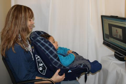 Reduced attention to audiovisual synchrony in infancy predicts autism diagnosis at three years of age