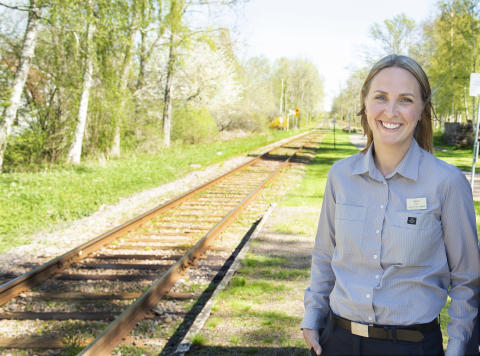 Sveriges vackraste tågresa bild 2  - Lokförare Sofia Lundborg