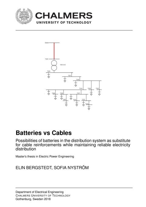 Exjobb Batteries vs Cables