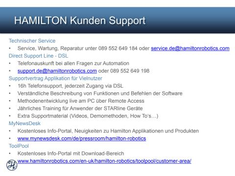 Hamilton Service & Support