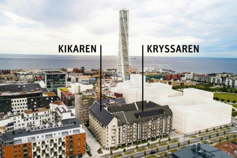 Pressinbjudan: Riksbyggen tar första spadtaget för 153 bostadsrätter i Västra Hamnen, Malmö