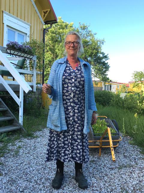 Filmaren, krögaren och odlaren Tina marie Qwiberg på Gula Hönan i Ronehamn