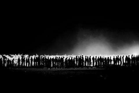Utställningen Flykt med Anders Hanssons bilder. Pressbild 2. Libyen.