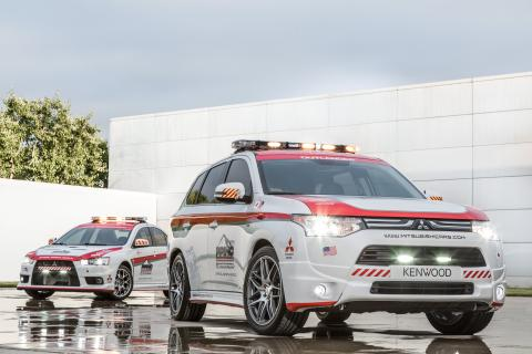 Mitsubishi utrustar Pikes Peak med säkerhetsbilar
