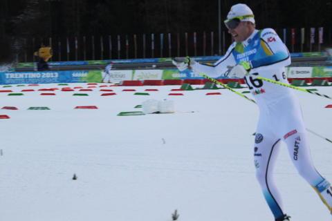 Dalaskidåkaren Lars Suther bäste svensk i skiathlonen i Universiaden