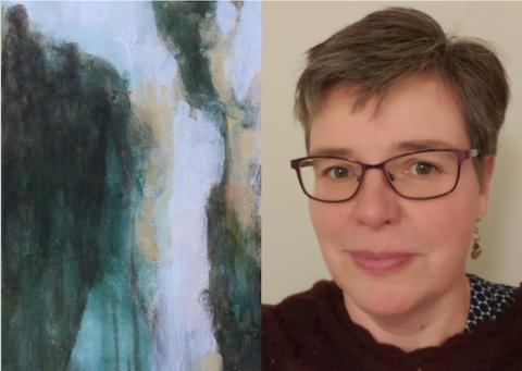 Åsa Falk - en av utställarna på Vinterspår