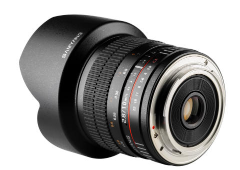 Samyang 10mm F/2,8 ED NCS, skrå bakfra