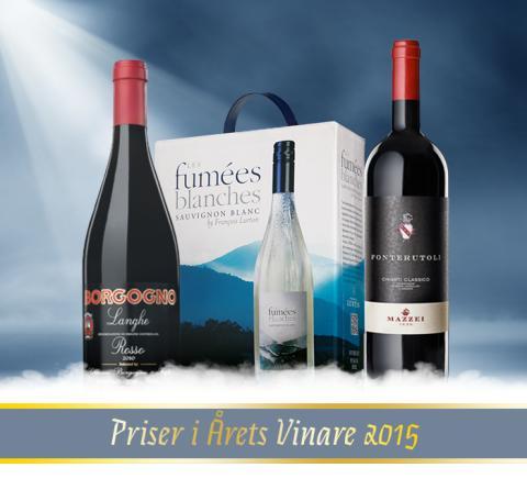 Stolta importörer av Årets vinare 2015!
