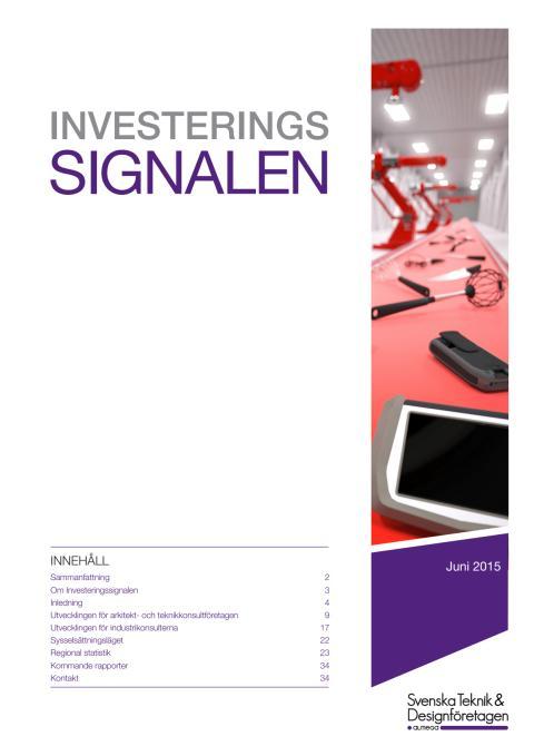 Svenska Teknik&Designföretagen: Investeringssignalen, juni 2015